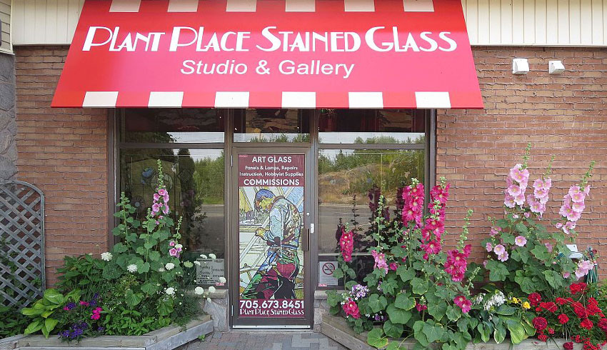 Plant-Place-Stained-Glass-Sudbury-Ontario-Art-Showroom-Gift-Shop-Storefront-Location
