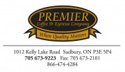 Premiere Coffee and Espresso Company Sudbury Ontario Business Card