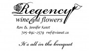 Regency Wine and Flowers Sudbury Ontario Business Card Ron Keast and Jennifer Keast