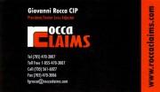 Rocca Claims G Rocca & Associates Sudbury Ontario Giovanni Rocca