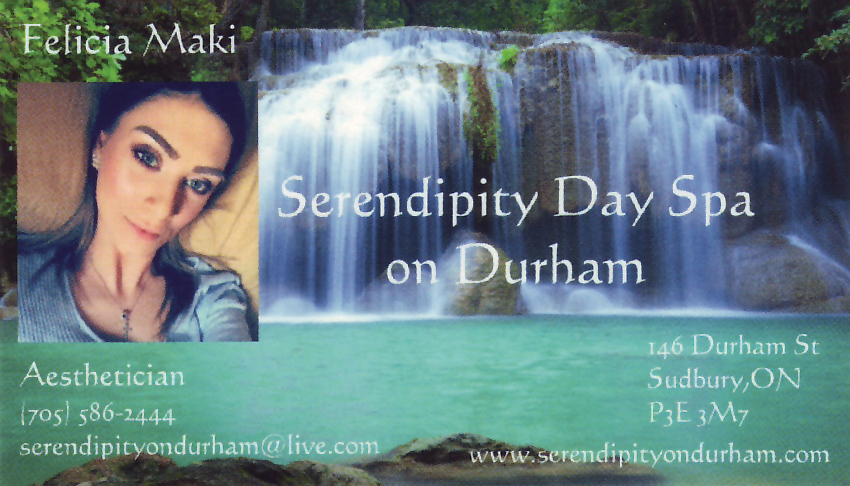 Serendipity-Day-Spa-on-Durham-Sudbury-Ontario-Felicia-Maki-Aesthtician-Esthetics