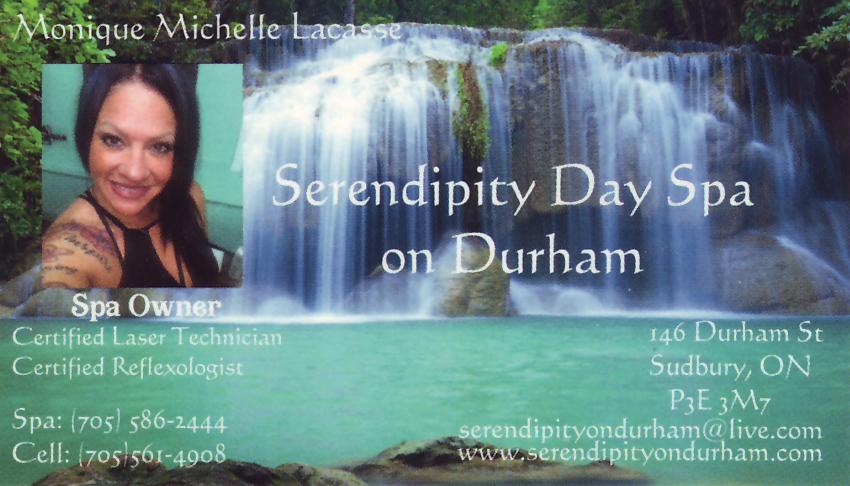 Serendipity-Day-Spa-on-Durham-Sudbury-Ontario-Monique-Michelle-Lacasse-Spa-Owner-Certified-Laser-Technician-Reflexologist