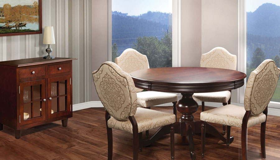 Spencer-Furniture-Sudbury-Ontario-Dining-Room-Round-Table-Chairs