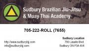 Sudbury Brazilian Jiu Jitsu & Muay Thai Academy Martial Arts Studio in Sudbury Ontario Business Card