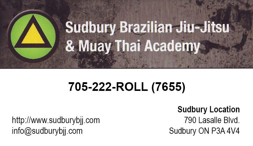 Sudbury Brazilian Jiu Jitsu Sudbury Location