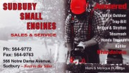 Sudbury Small Engines Business Card