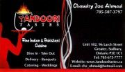 Tandoori Tastes Indian Restaurant and Catering in Sudbury Ontario Chaudry Joe Ahmad