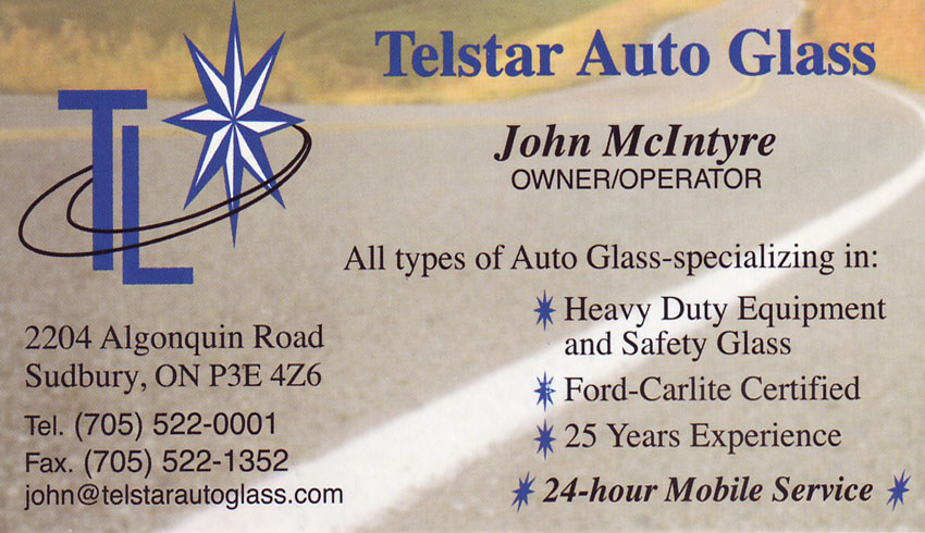 Telstar Auto Glass Sudbury Ontario Heavy Equipment Glass Repai Windshield Repair