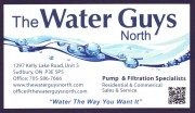 The Water Guys North Sudbury Ontario Water Filtration Equipment Sales and Service Water Purification Water Softeners Pumps Hot Tubs