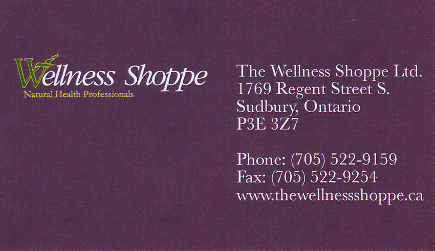 The Wellness Shoppe Health Foods Store in Sudbury Ontario
